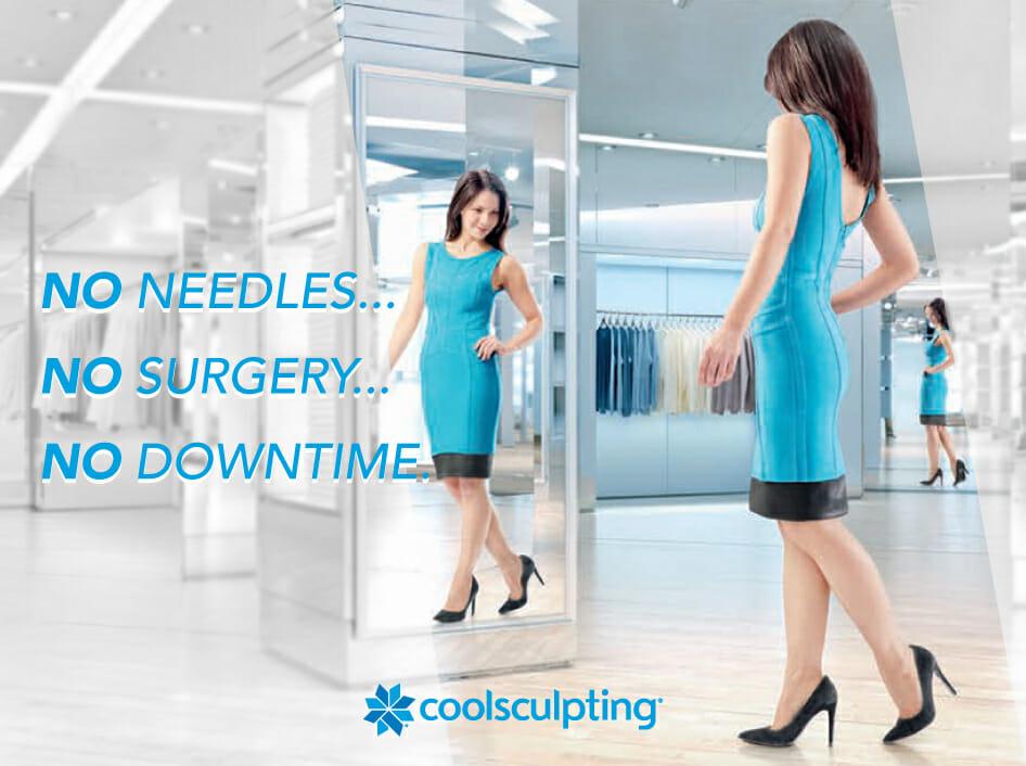ei kirurgiaa, ei neuloja, ei toipumisaikaa CoolSculpting